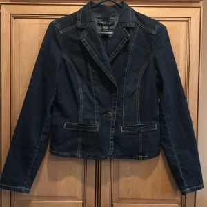 Baccini Jean Jacket Size Small Formal Fit
